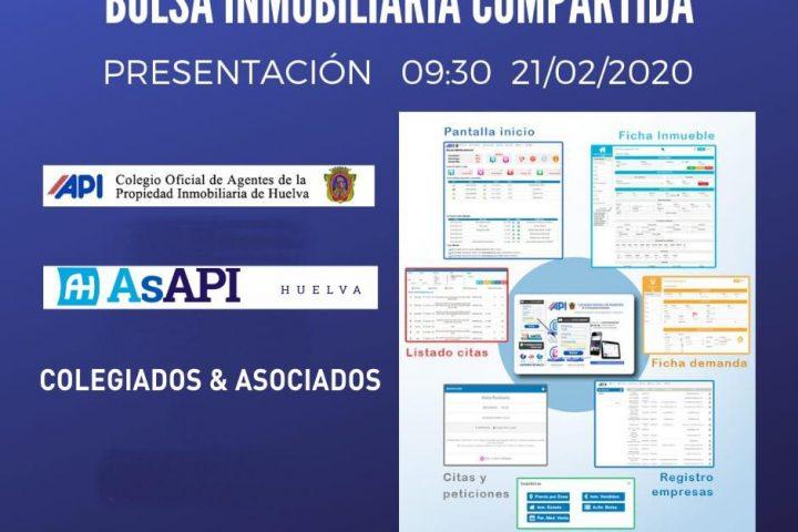 PRESENTACION BOLSA INMOBILIARIA COMPARTIDA COAPI Y ASAPI HUELVA